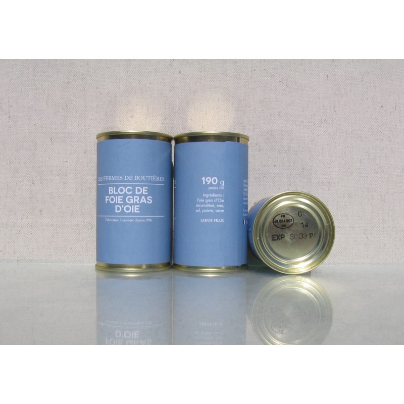 Bloc de foie gras d'oie 190 g