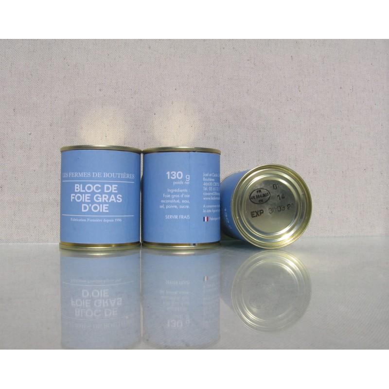 Bloc de foie gras d'oie 130 g